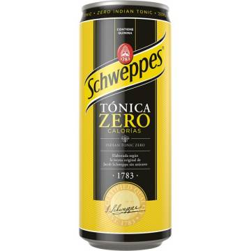 SCHWEPPES TONIC WATER ZERO CAN 33 CL