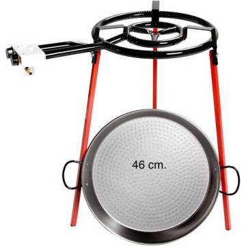 PAELLERO AND BURNER KIT 46 cm 6/7 people