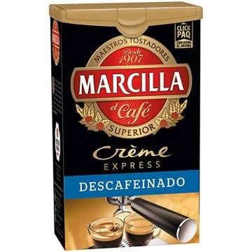 CAFÉ MOULU DÉCAFÉINÉ CRÈME EXPRESS 250 G MARCILLA
