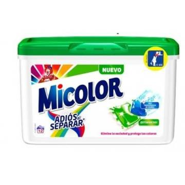 DETERGENT CAPSULES BYE BY SEPARATING MICOLOR 12 WASHES