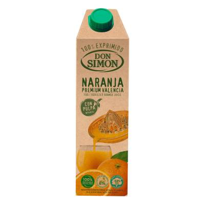 ORANGE JUICE WITH PULP 100% NOT FROM CONCENTRATE 1L DON SIMON