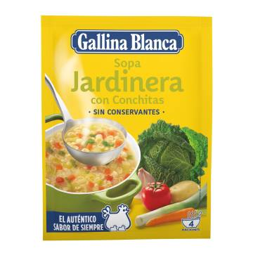 VEGETABLE SOUP WITH NOODLES GALLINA BLANCA