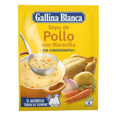 CHICKEN SOUP WITH PASTA BALLS GALLINA BLANCA