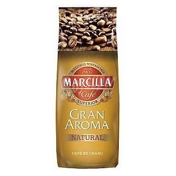 CAFÉ NATURAL EN GRANO GRAN AROMA 500G MARCILLA