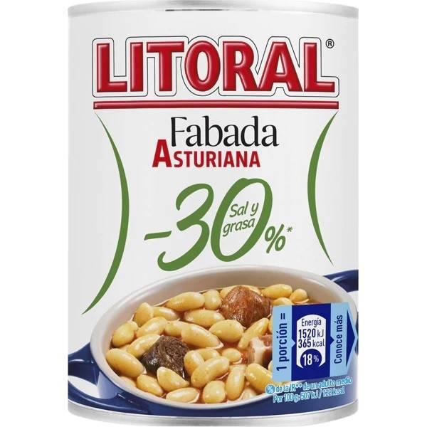 FABADA ASTURIANA -30% SAL Y GRASA 435G LITORAL