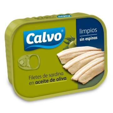 """OLIVE OIL SARDINE FILLETS """"CALVO"""""""