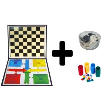PARCHEESI AND DRAUGHTS BOARD