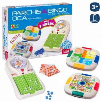 ELECTRONIC PARCHESI, GOOSE AND BINGO GAME