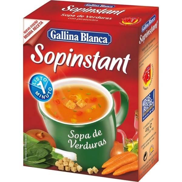 SOPA DE VERDURAS SOPINSTANT GALLINA BLANCA