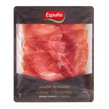 JAMBON SERRANO GRAN RESERVA TRANCHES 80G ESPUÑA