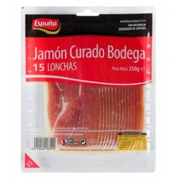 BODEGA CURED HAM SLICES 250G ESPUÑA