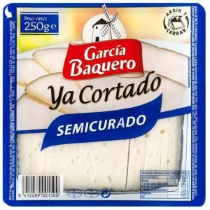 Queso semicurado ya cortado GARCIA BAQUERO 250g.