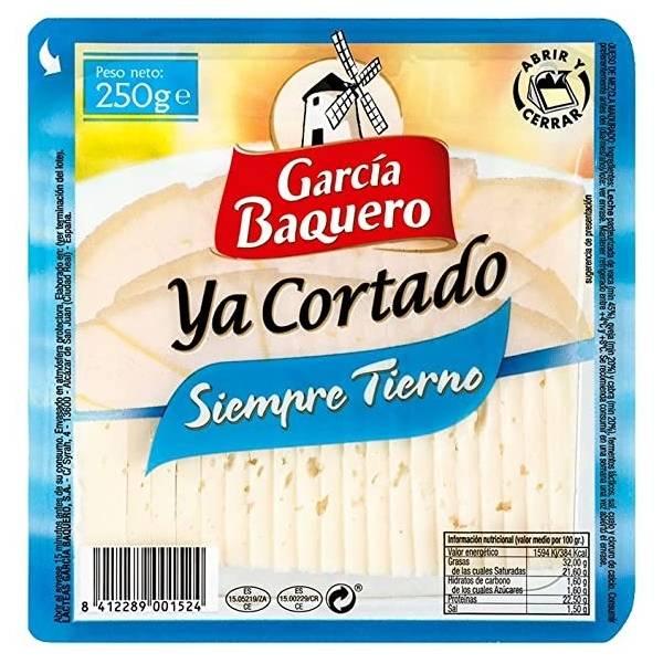 SLICED SIEMPRE TIERNO CHEESE 250G GARCIA BAQUERO
