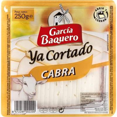 SLICED GOAT CHEESE 250G GARCIA BAQUERO