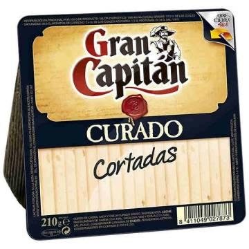 "SLICED CURED CHEESE 210G ""GRAN CAPITÁN"""