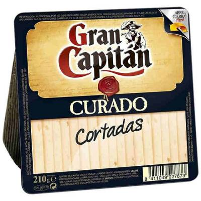 SLICED CURED CHEESE 210G GRAN CAPITÁN