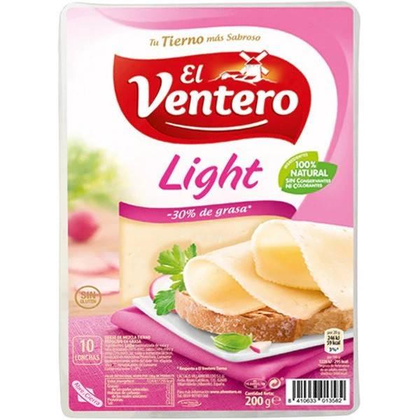 """QUESO TIERNO LIGHT LONCHAS 160G """"EL VENTERO"""""""