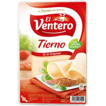 "SLICED MILD CHEESE 160G""EL VENTERO"""