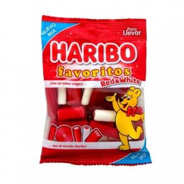 "CARAMELOS RED AND WHITE MIX ""HARIBO"""
