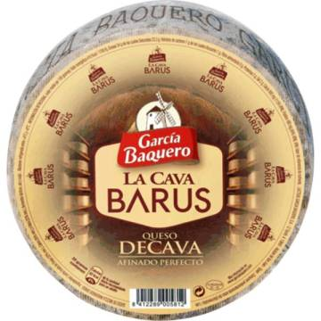 WHOLE LA CAVA BARUS CURED CHEESE APPROX. 2 KG GARCIA BAQUERO