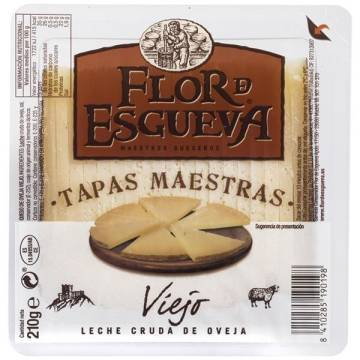 CURED SHEEP CHEESE TAPAS MAESTRAS 210G FLOR DE ESGUEVA