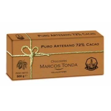 CHOCOLAT PUR ARTISANAL 72% CACAO 500G MARCOS TONDA