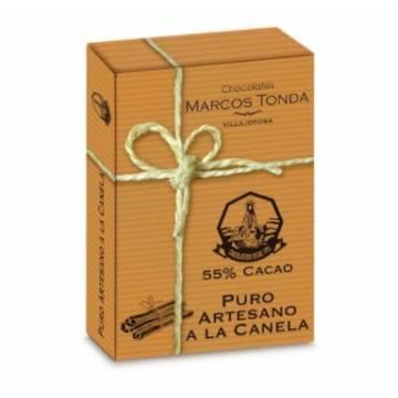 CHOCOLATE PURO ARTESANO A LA CANELA ESTUCHE 200G