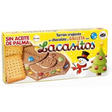 NOUGAT DE CHOCOLAT ET BISCUIT AVEC LACASITOS 215G LACASA