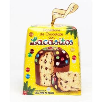 PANETTONE DE CHOCOLATE Y LACASITOS 100G LACASA