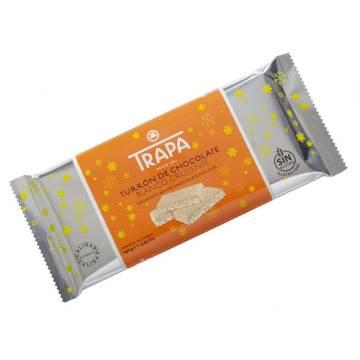 TURRON DE CHOCOLATE BLANCO CRUJIENTE TRAPA 140G