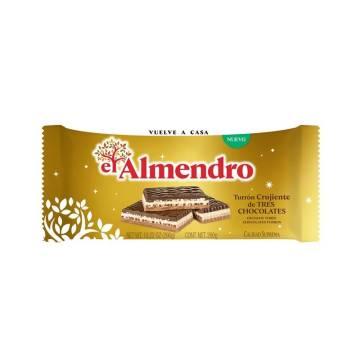 TURRÓN CRUJIENTE 3 CHOCOLATES EL ALMENDRO
