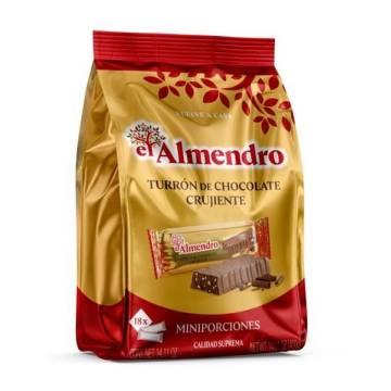 TURRON PORCIONES CHOCOLATE CRUJIENTE EL ALMENDRO