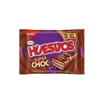 BARRES CHOCOLAT HUESITOS SUPER CHOC 5 UNITÉS VALOR