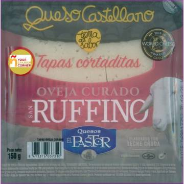 SLICED CURED SHEEP CHEESE SAN RUFFINO 150G EL PASTOR