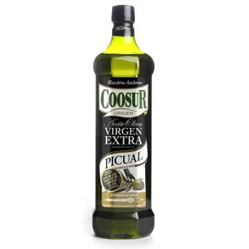 EXTRA VIRGIN OLIVE OIL PICUAL 1L COOSUR,1 BOTTLE