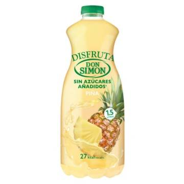 PINEAPPLE NECTAR WITHOUT ADDED SUGAR DISFRUTA 1,5L DON SIMON