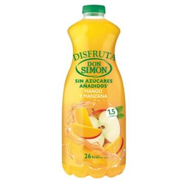 "APPLE AND MANGO JUICE - WITH LESS SUGAR- 1,5L ""DON SIMON"""