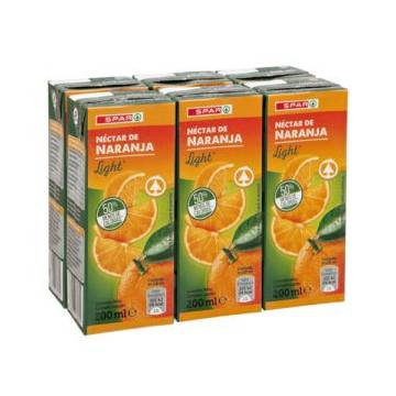 "ORANGE JUICE WITHOUT SUGAR 6X200ML ""SPAR"""