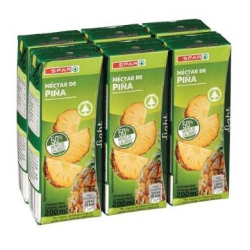 "PINEAPPLE JUICE WITHOUT SUGAR 6X200ML ""SPAR"""