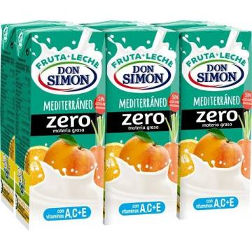 FRUIT MILK MEDITERRANEAN ZERO FAT 6x200ML DON SIMÓN
