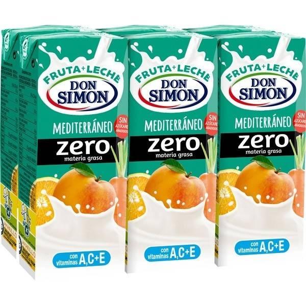 FRUIT MILK MEDITERRANEAN ZERO FAT 6x200ML DON SIMÓN