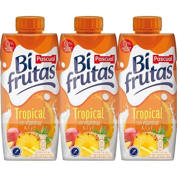 FRUTA LECHE BIFRUTAS TROPICAL 3x330ML PASCUAL