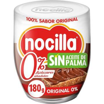 COCOA CREAM WIT HAZELNUTS WITHOUT SUGAR 180G NOCILLA