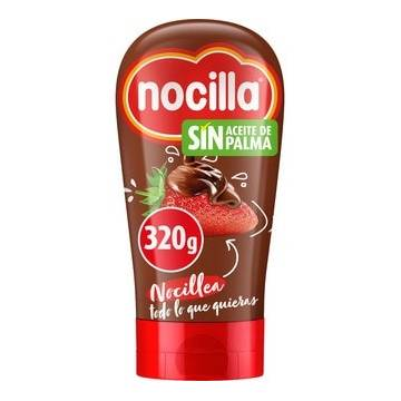 COCOA CREAM WIT HAZELNUTS ORIGINAL IN SQUEEZE BOTTLE 320G NOCILLA
