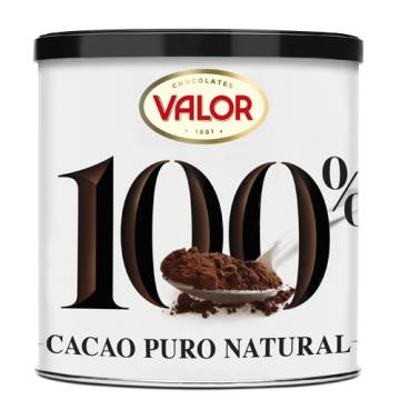 NATURAL PURE COCOA 100% CAN 250G VALOR