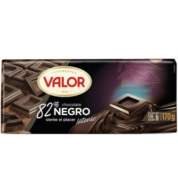 CHOCOLATE NEGRO 82% 170G VALOR