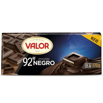 CHOCOLAT NOIR 92% 170G VALOR