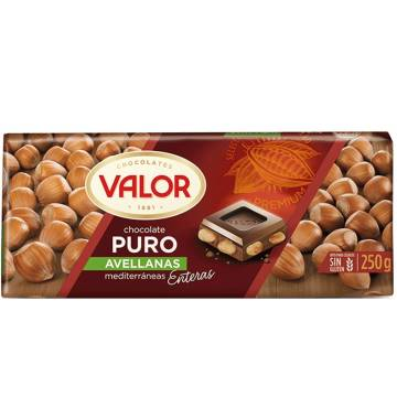 DARK CHOCOLATE WITH HAZELNUTS 250G VALOR