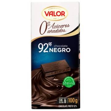 CHOCOLAT NOIR 92% SANS SUCRE AJOUTÉ 100G VALOR