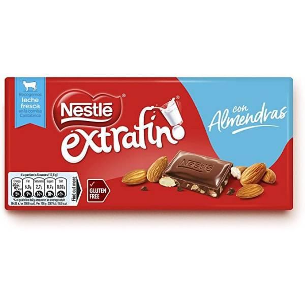 CHOCOLATE CON LECHE Y ALMENDRAS 123G NESTLÉ